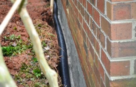 Brick Home Drainage